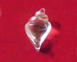 Sphatik shankh crystal conch 2inches