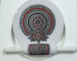 Marble designed roller pin board marble meenakari design chakla belan