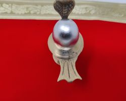 Parad lingam with brass stand 1.25 inches