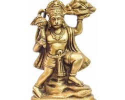 Brass Hanuman idol Hanuman statue of brass peetal ke Hanuman ji 3.5 inches