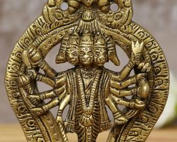Brass Panchmukhi Hanuman five face Hanuman idol of brass