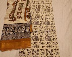 Block print cotton dress material 3 piece code 2