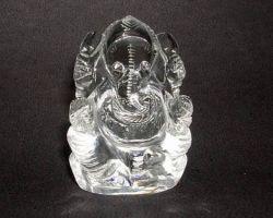 Sphatik ganesh idol natural clear crystal quartz ganesh idol 1.5 inches