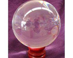 Sphatik ball natural crystal ball 200gm 80mm