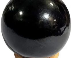 Black tourmaline ball 100gm 75mm