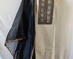 Khadi cotton ladies dress material 3 piece cotton khadi designer suit material