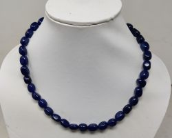 Natural blue stone necklace natural blue jade stone necklace