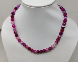 Natural red  purple stone necklace multipurple colour necklace