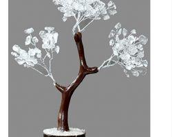 Clear crystal tree sphatik tree sfatik tree for prosperity 7 inches