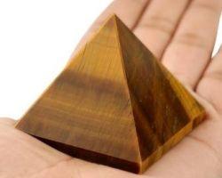 Tiger eye Pyramid natural tiger eye Pyramid 2×2 inches