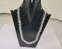 Crystal mala sphatik mala 12mm 34 beads