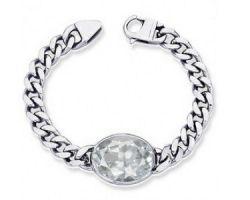 White topaz silver bracelet natural white suphhire silver bracelet