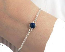 Blue suphhire silver bracelet neelam stone with silver bracelet 5.25ratti ,4.75  carrot