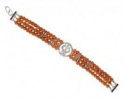 Silver rudraksh bracelet 108 beads  rudraksh bracelet in silver 108 beads