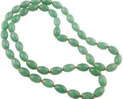 Green aventurine necklace 10mm beads