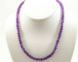 Amythest necklace natural amethyst stone necklace single