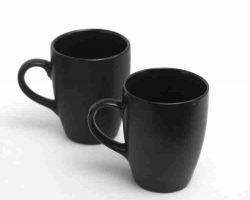 Coffee cup black coffee mug set of 2