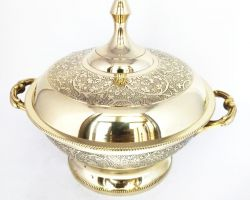Brass casserole royal design brass donga 600ml