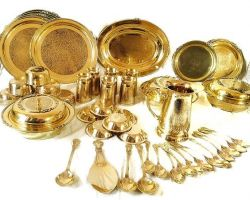Brass dinner set 51 piece complete dinner set