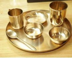 Bronze dinner set 7 piece
