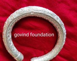 Silver kada  solid silver kada chandi ka thoss kada designer 255gm