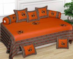 Diwan set patchwork cotton Diwan set orange