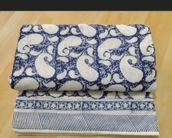 Dohar AC quilt double bed block print premium quality dohar