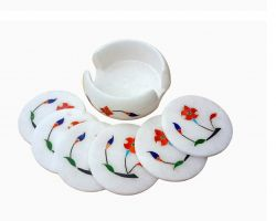 Tea coaster marble stone tea coaster set of 5