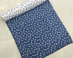 Dohar double bed cotton AC quilt blue flowers