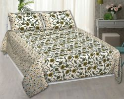 Bedsheet double bed cotton bedsheet with pillow solar