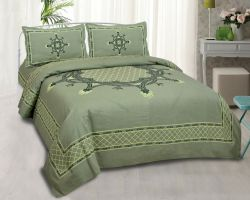 Bedsheet Cotton double bed bedsheet with pillow garden