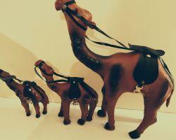 Camel showpiece wooden camel showpiece set of 3