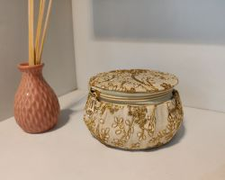 Matka shape bag round shape gift bag embroidery work