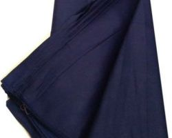 Plain cotton cloth material blue cotton cloth material  2.5 meter