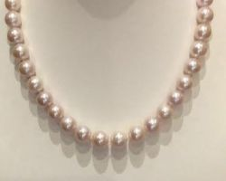 Pink pearl necklace pearl mala natural