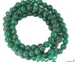 Green agate mala green hakik mala Hara hakik mala 8mm 108 beads