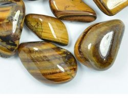 Tiger eye stone tumbled natural stone 100gm