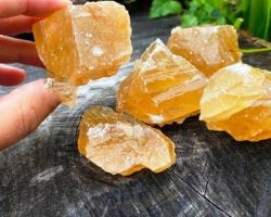 Citrine raw crystal 5 piece