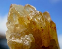 Citrine raw cluster natural citrine stone rough cluster 225gm