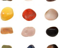 Gemstone tumbled mix set of 12 stone healing stone white crystal, rose quartz, citrine , amethyst, tiger eye, red jade , green aventurine , lapis lazuli ,