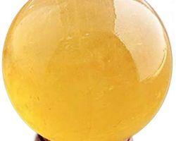 Citrine stone ball citrine sphere ball good luck ball  50mm