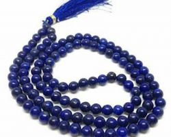 Blue agate mala  blue hakik mala neeli hakik mala 6mm 108
