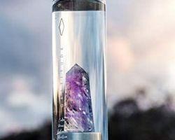 Amethyst stone water bottle