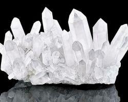 Crystal quartz cluster clear crystal quartz cluster family 525gnm