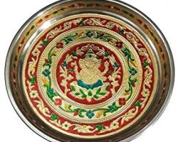 Decorative plate ganesh pooja plate 6 inches