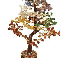 Seven stone tree 7 chakra stone tree  good luck tree 12 inches