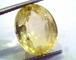 Yellow sapphire pukhraj oval 7.5 untreated  carrot
