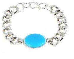 Turquoise silver bracelet luxury natural turquoise salman khan bracelet