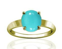 Turquoise ring turquoise stone with gold ring