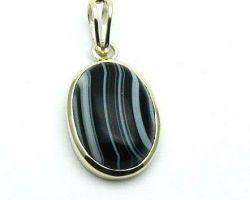 Sulemani hakik silver pendant black agate pendant sulemani akik pendant
